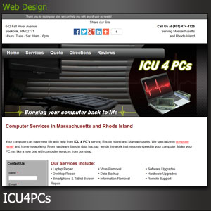 Icu4pcs Website Design